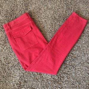 Vineyard Vines Coral Skinny Pants Women's Sz 10